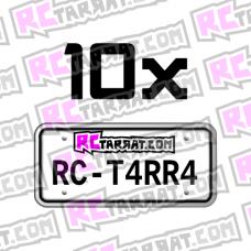 Rekisterikilpitarra Rekkari_001 (10kpl) omalla tekstillä