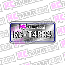 Rekisterikilpitarra Rekkari_002 (2kpl) omalla tekstillä