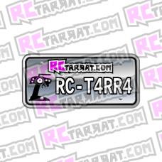 Rekisterikilpitarra Rekkari_004 (2kpl) omalla tekstillä
