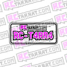 Rekisterikilpitarra Rekkari_005 (2kpl) omalla tekstillä