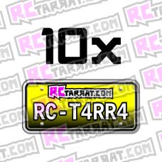 Rekisterikilpitarra Rekkari_006 (10kpl) omalla tekstillä
