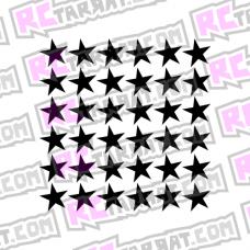Tähtikuvioarkki, keskikokoiset tähdet
